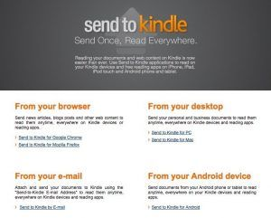 Send to Kindle - Amazon Kindle Paperwhite